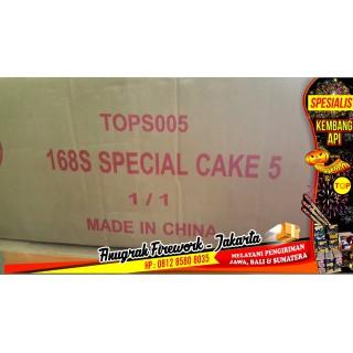 """Kembang Api Cake TOP Special Cake 5 168s 1,5"""" [ Mix Fan]"""